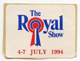CINDERELLA : UK - THE ROYAL SHOW 4-7 JULY 1994 - Cinderellas