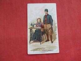 Singer Sewing Trade Card 1892  Netherlands Island Marken > Ref 2814 - Advertising