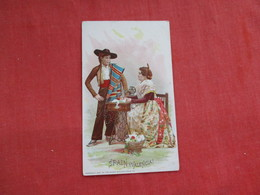 Singer Sewing Trade Card 1892    Spain Valencia> Ref 2814 - Publicités