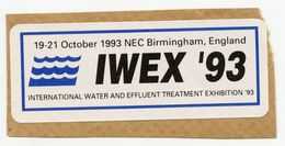 CINDERELLA : UK - IWEX, NEC BIRMINGHAM 1993 - Erinnophilie