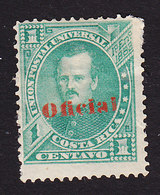 Costa Rica, Scott #O1, Mint Hinged, Overprinted Issues, Issued 1883 - Costa Rica