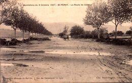 Ardèche - St Péray - Inondations Du 9 Octobre 1907 - La Route De Valence - Saint Péray