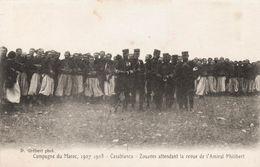 Guerre Coloniale Du Maroc - 1907-1908 - CASABLANCA - Zouaves Attendant La Revue De L'Amiral Philibert - TBE - - Andere Oorlogen