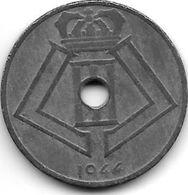 Belguim Leopold III 25 Centimes 1944 Dutch Vf+ - 1934-1945: Leopold III