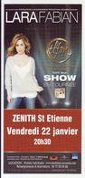 - Flyer - Lara Fabian - Le Zénith De St Etienne - - Musique & Instruments