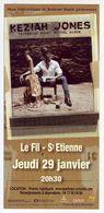 - Flyer - Keziah Jones - Le Fil à St Etienne - - Musique & Instruments