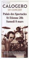- Flyer - Calogero - Palais Des Spectacles De St Etienne - - Musique & Instruments