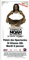 - Flyer - Yannick Noah - Palais Des Spectacles De St Etienne - - Musique & Instruments
