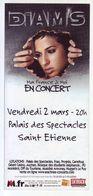 - Flyer - Diam's - Palais Des Spectacles De St Etienne - - Musique & Instruments
