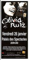 - Flyer - Olivia Ruiz - Palais Des Spectacles De St Etienne - - Musique & Instruments