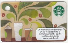 GERMANY - How To Make Coffee, Starbucks Mini Card, CN : 6118, Unused - Gift Cards