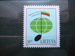 Song Festival.Flag # Lietuva Lithuania Litauen Lituanie Litouwen 1994 MNH # Mi. 560 - Lithuania