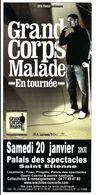 - Flyer - Grand Corps Malade - Palais Des Spectacles De St Etienne - - Musique & Instruments