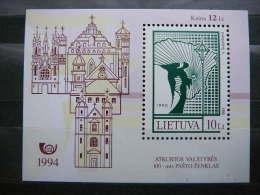 100th Postage Stamp # Lietuva Lithuania Litauen Lituanie Litouwen 1994 MNH # Mi. 556 Block4 - Lithuania