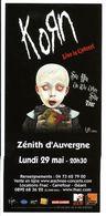 - Flyer - Korn - Le Zénith D'Auvergne - - Music & Instruments