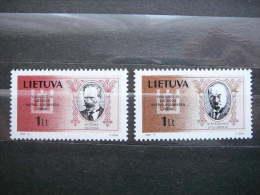 National Day.Persons # Lietuva Lithuania Litauen Lituanie Litouwen 1994 MNH # Mi. 548/9  Famous People - Lithuania