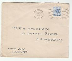 1950 GB FDC  4d Stamps Cover - FDC