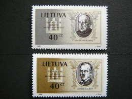 National Day. Persons # Lietuva Litauen Lituanie Litouwen Lithuania 1996 MNH # Mi. 606/7 - Lithuania