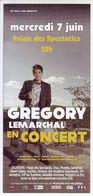 - Flyer - Gregory Lemarchal - Palais Des Spectacles De St Etienne - - Music & Instruments