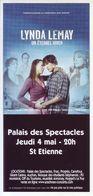 - Flyer - Lynda Lemay - Palais Des Spectacles De St Etienne - - Music & Instruments