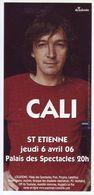 - Flyer - Cali - Palais Des Spectacles De St Etienne - - Musique & Instruments