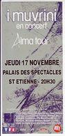 - Flyer - I Muvrini - Palais Des Spectacles De St Etienne - - Musique & Instruments