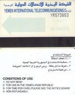 TARJETA TELEFONICA DE YEMEN. (006) - Yemen
