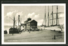 CPA Assens, Havnen, Segelschiff Im Le Port - Denmark
