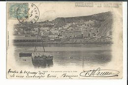 ALGERIE ORAN VUE GENERALE PRISE DE LA JETEE TAMPON CUIRASSE LE GAULOIS 1906 - Oran