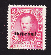Costa Rica, Scott #O3, Used, Overprinted Issues, Issued 1883 - Costa Rica