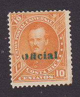 Costa Rica, Scott #O6, Mint Hinged, Overprinted Issues, Issued 1883 - Costa Rica