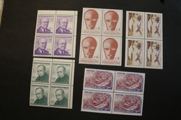 Chile 392 C257-58 413 431 5 Blocks Of 4 Boeing 707 Fish Produce Education Yr More WYSIWYG MNH  A04s - Chile