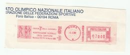 1982 ITALY OLYMPIC COMMITTEE Illus METER SLOGAN Youth CROSS COUNTRY RACE Athletics Stamps On PIECE Olympics Games Sport - Olympic Games