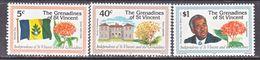 ST. VINCENT  GRENADINES  180-2    **    FLAG  FLOWERS - St.Vincent (...-1979)
