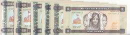 ERITREA 1 5 10 20 50 100 NAKFA 2011 2015 P-13 14 15 16 17 18 FULL UNC SET */* - Eritrea