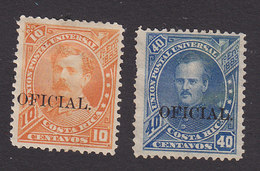 Costa Rica, Scott #O23-O24, Mint Hinged/No Gum, Overprinted Issues, Issued 1887 - Costa Rica