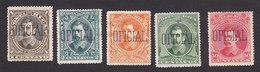 Costa Rica, Scott #O25-O27, O29-O30, Mint No Gum/Hinged, Overprinted Issues, Issued 1889 - Costa Rica