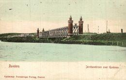 Randers. Broen  Jernbanebroen Over Gudenaa   Dänemark  Denmark Dinamarca - Denmark