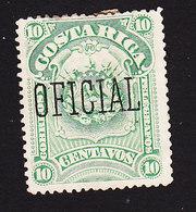 Costa Rica, Scott #O34, Mint No Gum, Overprinted Issues, Issued 1892 - Costa Rica