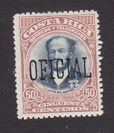 Costa Rica, Scott #O42, Mint Hinged, Overprinted Issues, Issued 1901 - Costa Rica