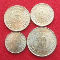 Yugoslavia 1 2 5 10 Dinar 1970 1976 FAO F.a.o. Unc - Yugoslavia