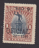 Costa Rica, Scott #O61, Mint Hinged, Overprinted Issues, Issued 1921 - Costa Rica