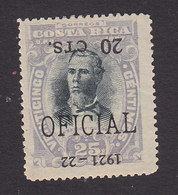 Costa Rica, Scott #O62, Mint Hinged, Overprinted Issues, Issued 1921 - Costa Rica