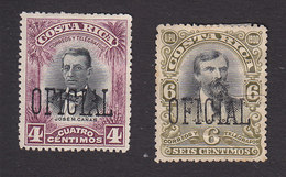 Costa Rica, Scott #O45-O46, Mint No Gum, Overprinted Issues, Issued 1903 - Costa Rica