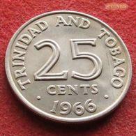 Trinidad E Tobago 25 Cents 1966 KM# 4  Trinite & Tobbacco - Trinidad & Tobago