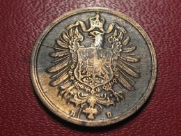 Allemagne - 2 Pfennig 1876 D - Coin Fissuré 4345 - [ 2] 1871-1918 : German Empire