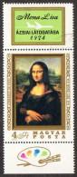 HUN SC #2280 U 1974 Mona Lisa, By Leonardo Da Vinci CV $6.00 - Hungary