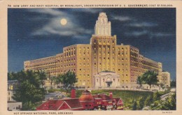 Arkansas Hot Springs New Army and Navy Hospital By Moonlight Cur