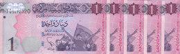 LIBYA 1 DINAR 2013 P-76 Lot X5 UNC Notes */* - Libya