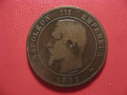 10 Centimes Napoléon III 1855 A Paris Ancre 4245 - France